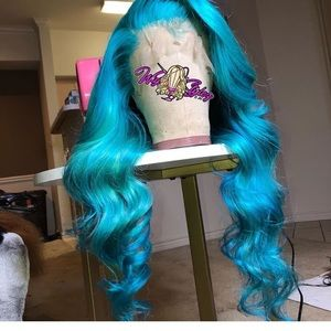 "22"" Blue Glueless Frontal wig"